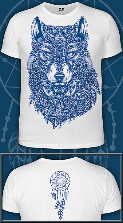Wolf-Totem T-shirt, glow in UV