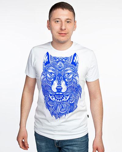 Футболка «Волк-Тотем», светится в УФ