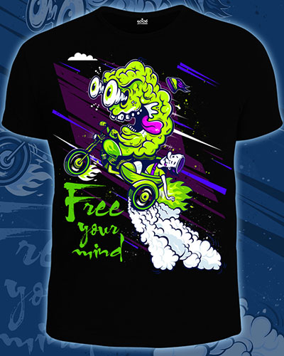 Free Mind T-shirt, glow in dark & UV