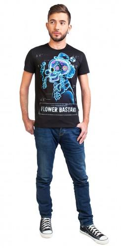 Flower Bastard T-shirt, glow in dark & UV