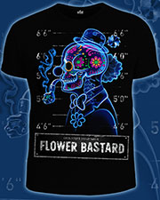 Flower Bastard T-shirt, glow in dark & UV