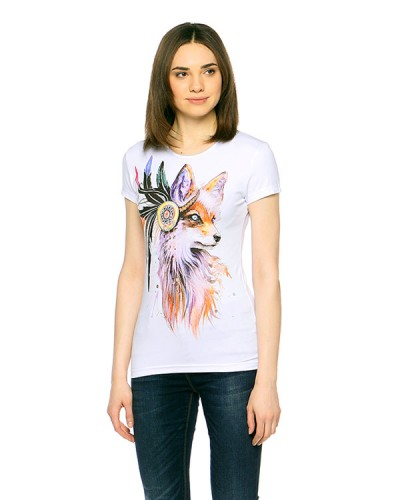 Fox T-shirt, glow in UV