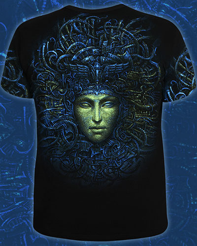CyberGordon T-shirt, glow in dark & UV