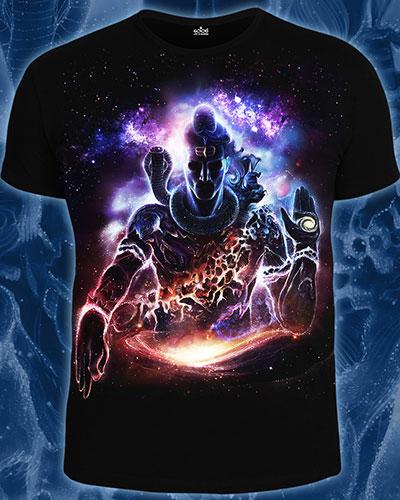 Футболка «Vision of the Universe», светится в темноте и УФ