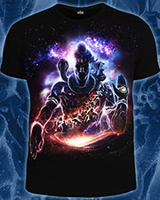 Vision of the Universe T-shirt, glow in dark & UV