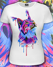 Cats Tribe T-shirt, glow in UV