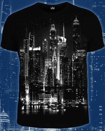 Night City Lights T-shirt, glow in dark & UV