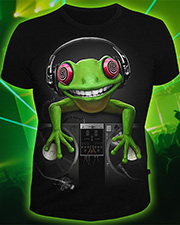 Crazy Frog T-shirt, glow in dark & UV