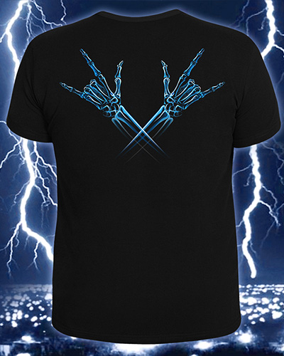 X-Skeleton T-shirt, glow in dark & UV