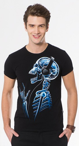 X-Skeleton T-shirt, glow in dark & UV
