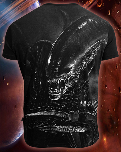 Alien T-shirt, glow in dark & UV
