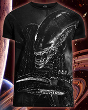 Alien T-shirt, glow in dark & UV