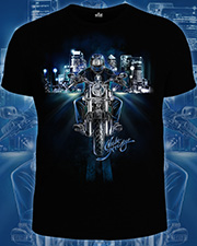 Night Stranger T-shirt, glow in dark & UV