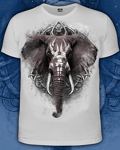 Футболка «Слон», светится в темноте и УФ