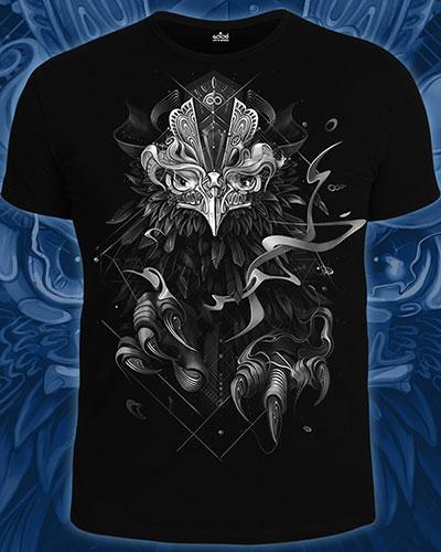 Astral Phoenix T-shirt, glow in dark & UV