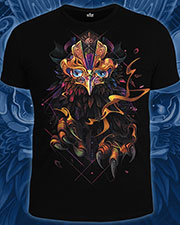 Astral Phoenix T-shirt, glow in UV