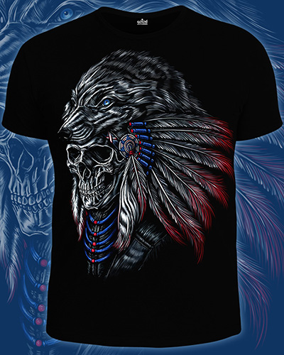 Shaman T-shirt, glow in dark & UV