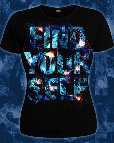 Find Yourself T-shirt, glow in dark & UV