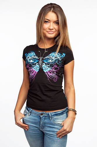 Butterfly T-shirt, glow in dark & UV