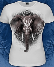Elephant T-shirt, glow in dark & UV