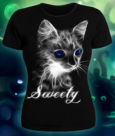 Sweety T-shirt, glow in dark & UV