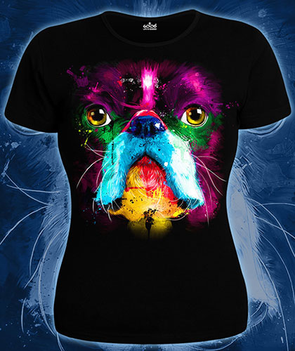 Fluro Dog T-shirt, glow in UV