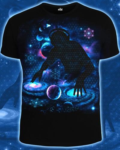 Футболка Galactic DJ, светится в темноте и УФ