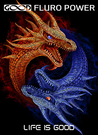 Ing-Yang Dragons Canvas
