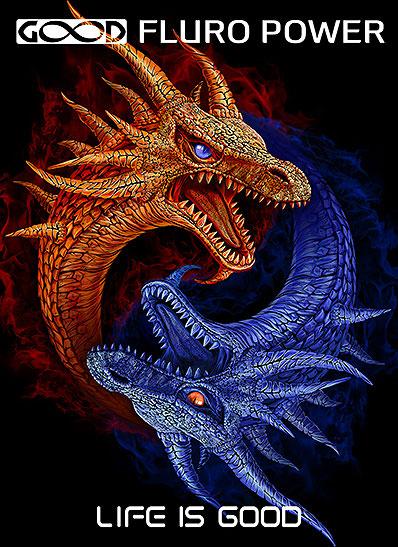 Полотно «Драконы Инь-Янь»