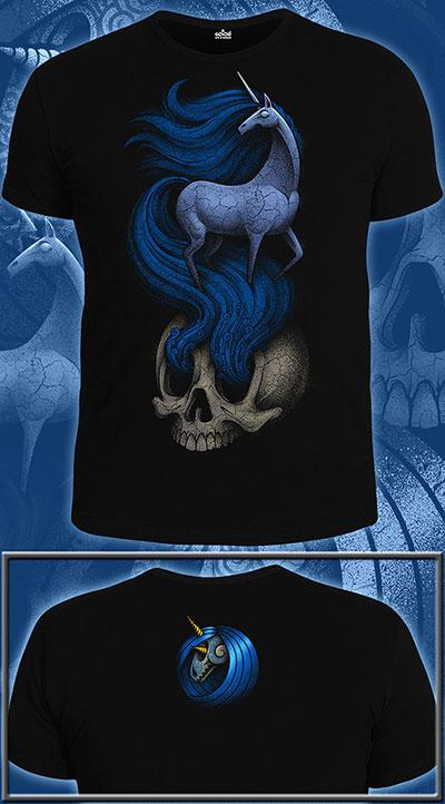 Unicorn T-shirt, glow in dark & UV