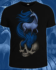 Unicorn T-shirt, glow in dark & UV