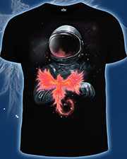 Phoenix T-shirt, glow in dark & UV