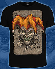 Joker T-shirt, glow in dark & UV