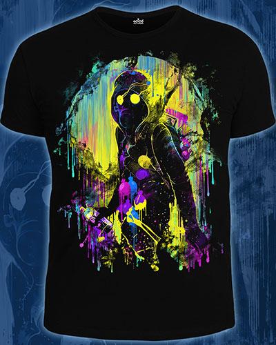 Street Art T-shirt, glow in UV