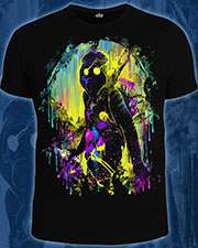 Street Art T-shirt, glow in UV