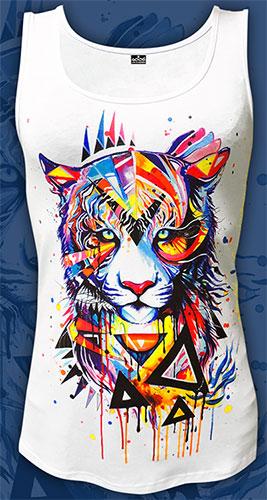 Майка «Радужный тигр», светится в УФ