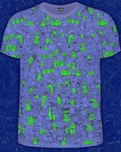 Little Friends T-shirt, glow in dark & UV
