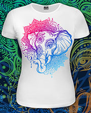Indian Style T-shirt, glow in UV