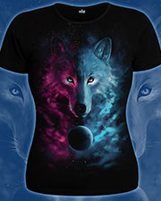 Футболка «Space Wolf», glow in UV