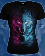 Футболка «Космический волк», светится в УФ