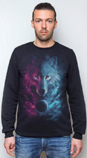 Space Wolf Sweatshirt, glow in UV