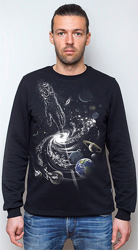 Creation of the Universe Sweatshirt, glow in UV