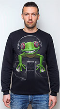 Crazy Frog Sweatshirt, glow in UV