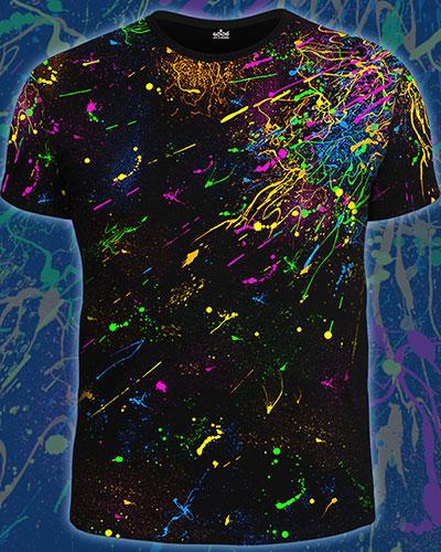 UV Explossion T-shirt, glow in UV