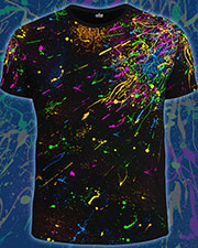 UV Explossion T-shirt, glow in UV