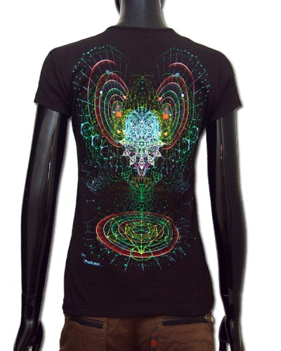 Alien Mind T-shirt, glow in dark & UV