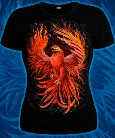 Phoenix T-shirt, glow in dark & UV