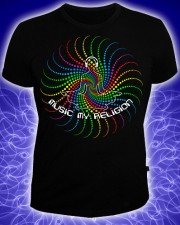 Music my religion T-shirt, glow in UV