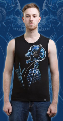 X-Skeleton Tank Top, glow in dark & UV