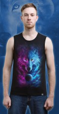 Space Wolf Tank Top, glow in UV